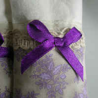 Hanging Purple 'Tea Bag' Lavender bag