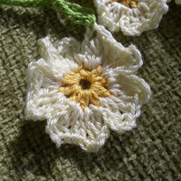 Crocheted Primrose Flower Bunting
