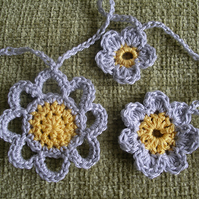Crocheted Flower Bunting
