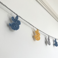 Crocheted bunny bunting