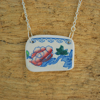 Beach pottery pendant