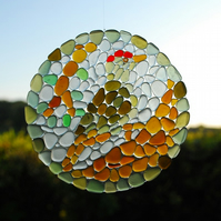 Woodpecker mosaic sun catcher