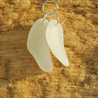 Two together sea glass pendant