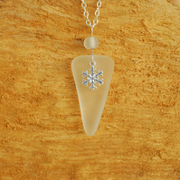 Icicle pendant with snowflake charm