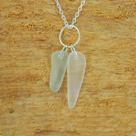 Beach glass icicle cluster pendant