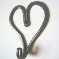 Love Heart Hook Iron clothes hook door