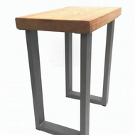 Elm and Steel Side Table
