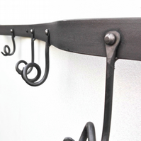 twisted metal coat hook rack rail bespoke