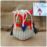 Fatty Owl Chad, Surfer Owl Ornament (SKU00528)