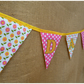 Personalised Daisies and Polka Dots Bunting