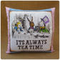 Mad Hatters Tea Party Alice in Wonderland Cushion