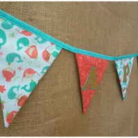 Personalised Mermaid Bunting (SKU00644)