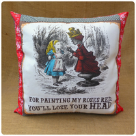Queen of Hearts Alice in Wonderland Cushion (SKU00596)