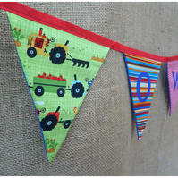 Personalised Farm Bunting,Tractor Banner (SKU00546)