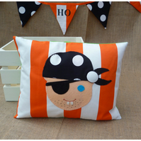 Orange Stripe Pirate Cushion (SKU00476) ON SALE
