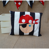 Black Stripe Pirate Cushion (SKU00478) ON SALE