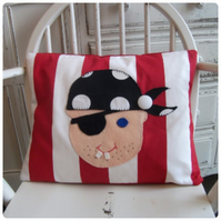 Red Stripe Pirate Cushion (SKU00478) ON SALE