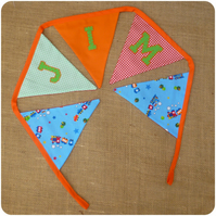 Personalised Train Bunting (SKU00482)
