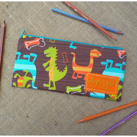 Personalised Dinosaur Pencil Case (SKU00585)