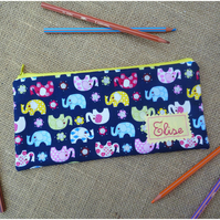 Personalised Elephant Pencil Case (SKU00370)