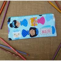 Personalised Snow Princess Pencil Case (SKU00427)