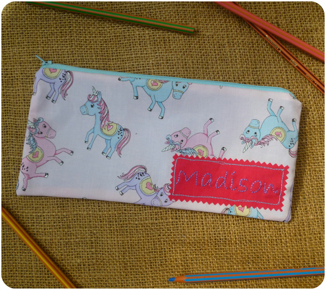Personalised Unicorn Pencil Case (SKU00589)