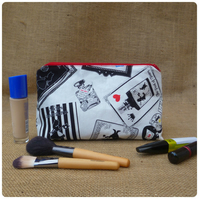 Alice in Wonderland Make Up Bag, Choice of Fabrics Available (SKU00619)