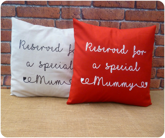 Reserved for Cushion, Gift for Mum, Choice of Colours Available (SKU00690)