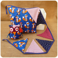 Fox Nursery Set - Cushion, Bunting and Fatty Owl Fernando Ornament (SKU00731)