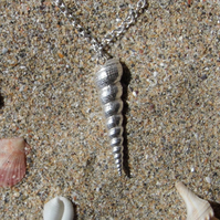 Silver Shell Handmade Necklace.