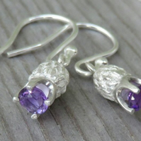 Amethyst Thistle Earrings