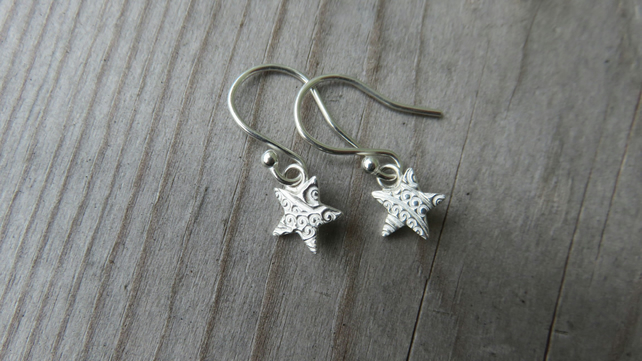 Patterned Star Earrings Small