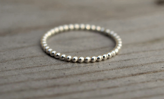 Beaded Stack Ring 1.5mm
