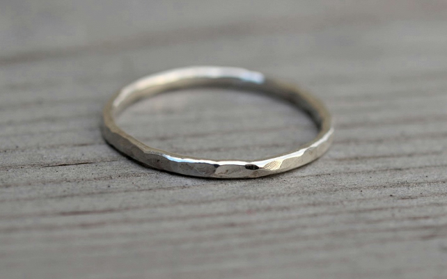 Hammered Stack Ring 1.5mm