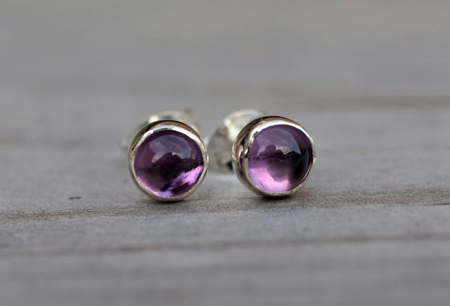 Amethyst Stud Earrings 5mm