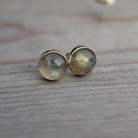 Labradorite Stud Earrings 8mm