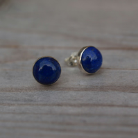 Lapis Lazuli Stud Earrings 8mm
