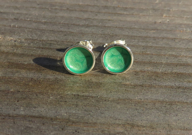 Sea Green Studs small