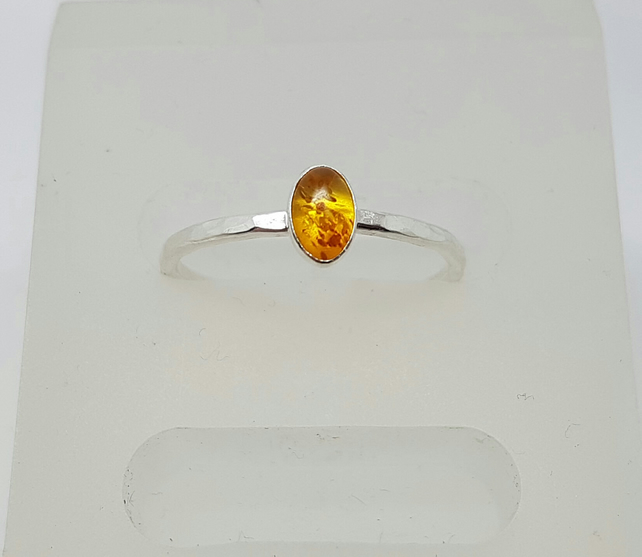 Honey Amber stack ring