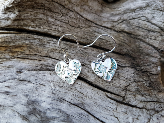 Garden Heart Earrings