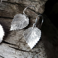 Birch Leaf Earrings.