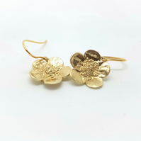 9ct Gold Buttercup Earrings