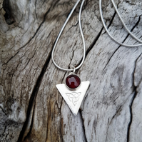 Triquetra Garnet Necklace