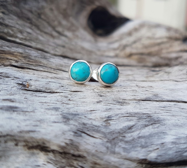 Turquoise Studs 6mm