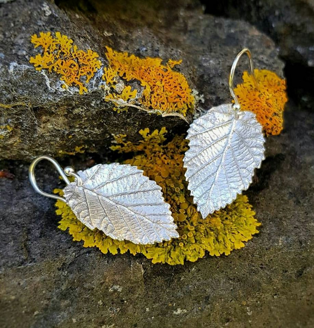 Hazel Leaf Earrings