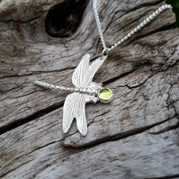 Dragonfly with Gemstone Necklace medium