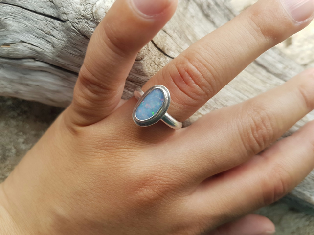 Opal Ring size O