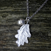 Oak Leaf and Acorn Necklace.
