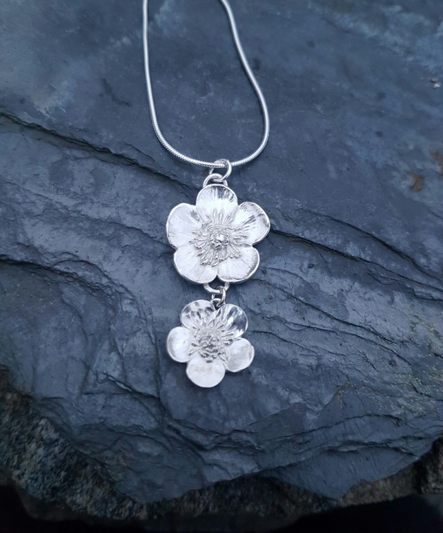 Double Buttercup Necklace