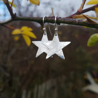 Star earrings large